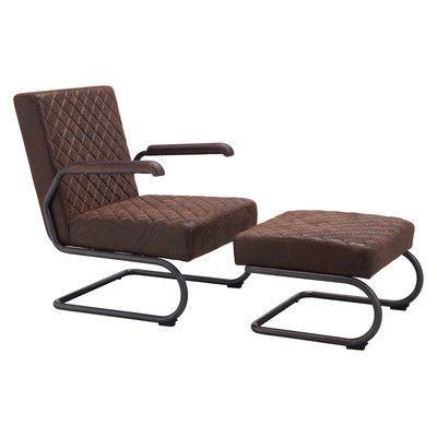 Trent Austin Design Leduc Arm Chair and Ottoman Upholstery: Vintage