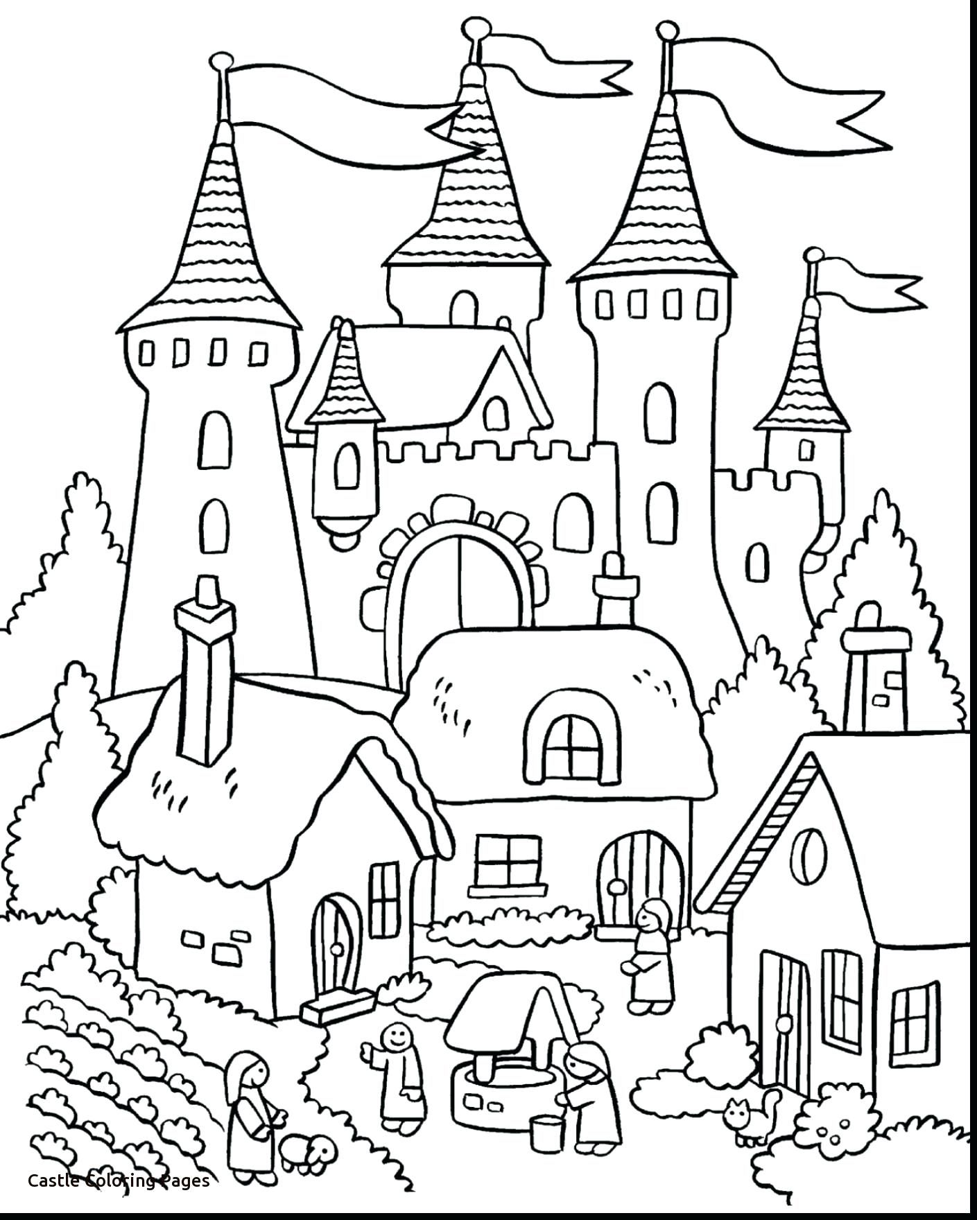 Free Castle Coloring Pages Free Elsa Coloring Pages Castle Coloring Page Princess Coloring Pages