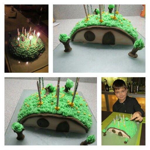 Hobbit taart voor de 10e verjaardag van mijn zoon