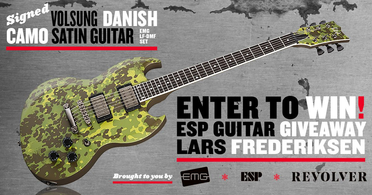 Help me to win this ESP Guitar with EMG Pickups signed by