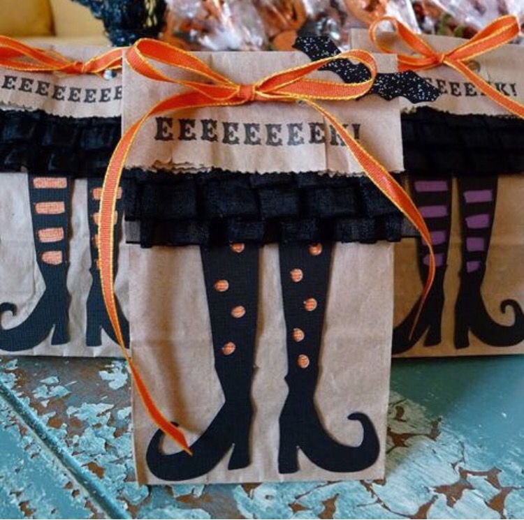 Brujas Boo Pinterest Halloween ideas - halloween treat bag ideas