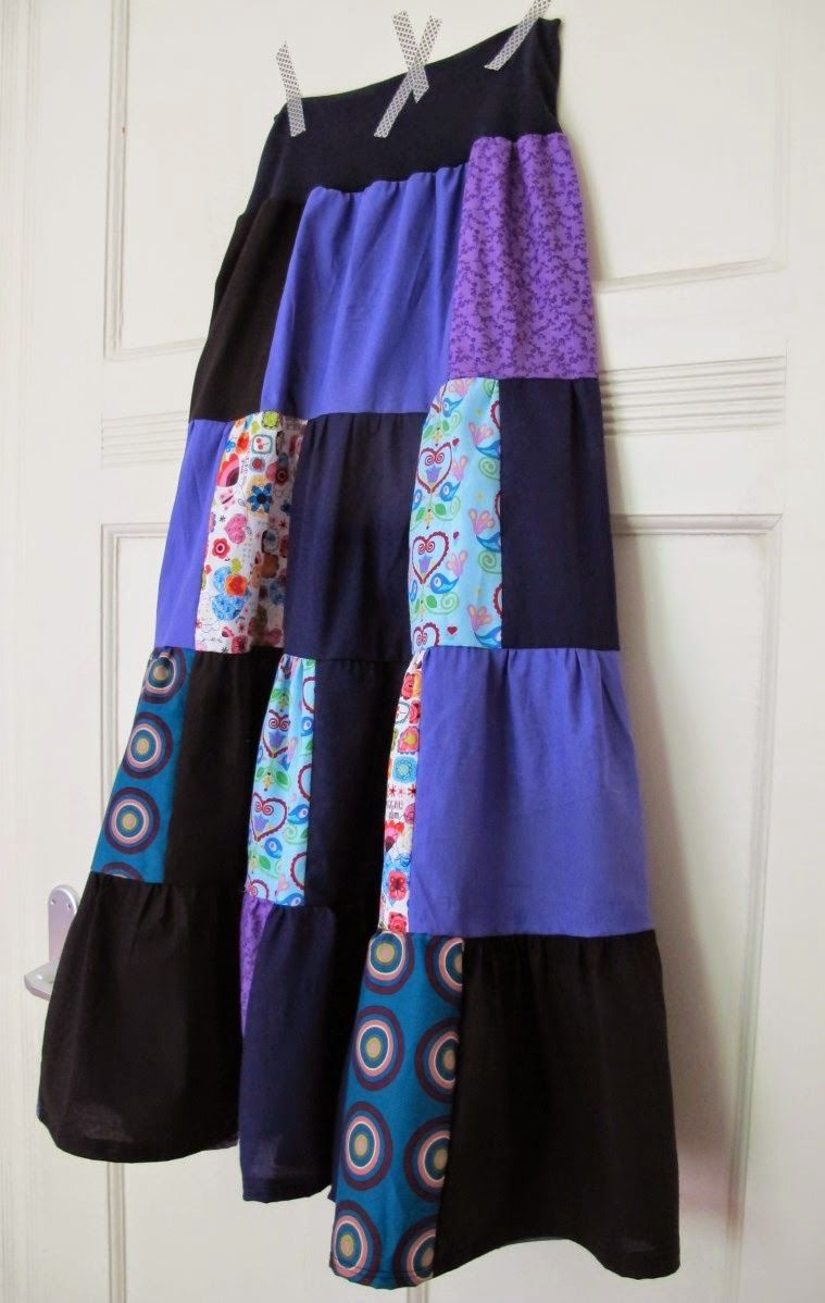 Krawattenrock Rock Aus Stoffresten Skirt Made From Scraps Of Fabric