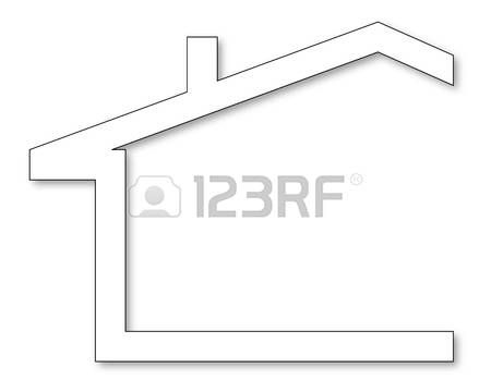 The Silhouette Of The House With A Gable Roof And Chimney Vector Gable Roof Roof Vector