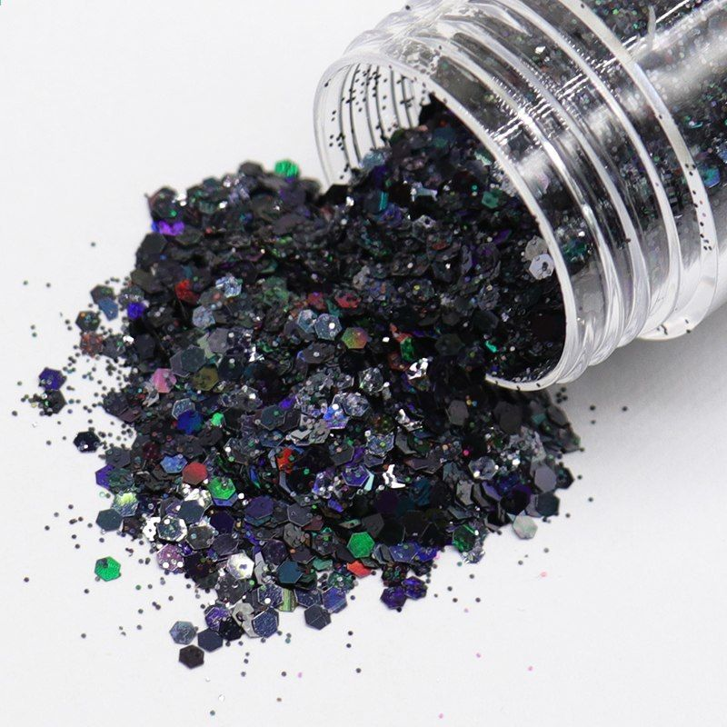 1 Box UltraHolografisk Glitter För Nails Akryl Kit