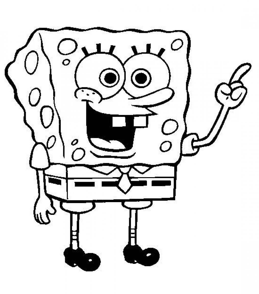 Free Spongebob Squarepants Coloring Pages With A Picture Of ...