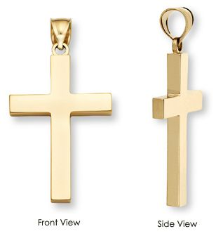 applesofgoldcom A fully solid 14k gold cross for men This is the