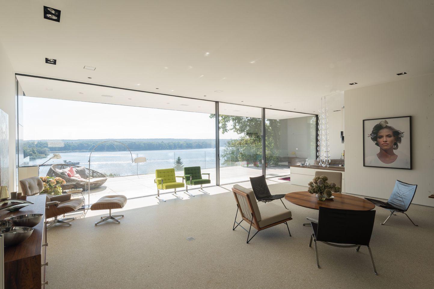 Rahmenlose schiebefenster und festverglasung burckhardt soreg schiebefenster fenster - Bodentiefe schiebefenster ...