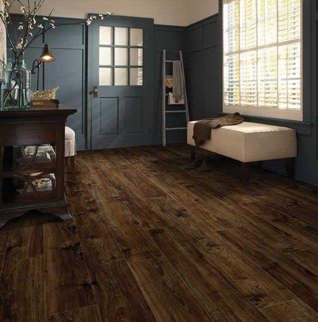 Dark Wooden Indoor Vinyl Floor Plank Use In Home If Your
