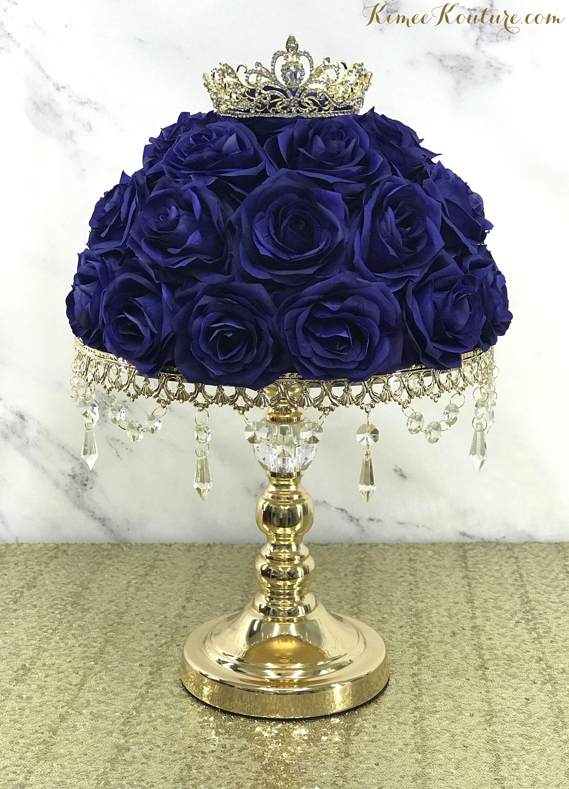 Gold Centerpiece Stand With Crystal Accent Gold Cake