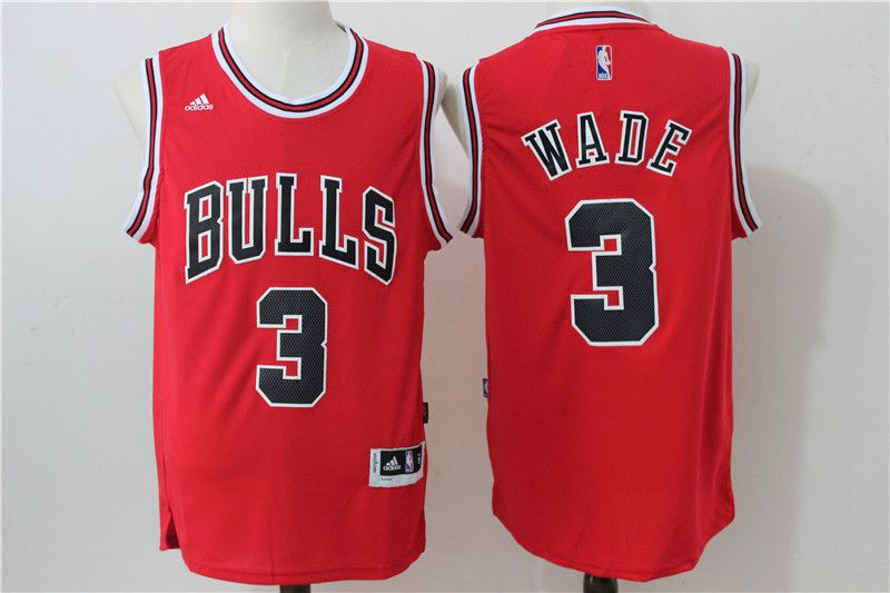b7cf4c3d943 Men s NBA Chicago Bulls  3 Dwyane Wade Red Jersey