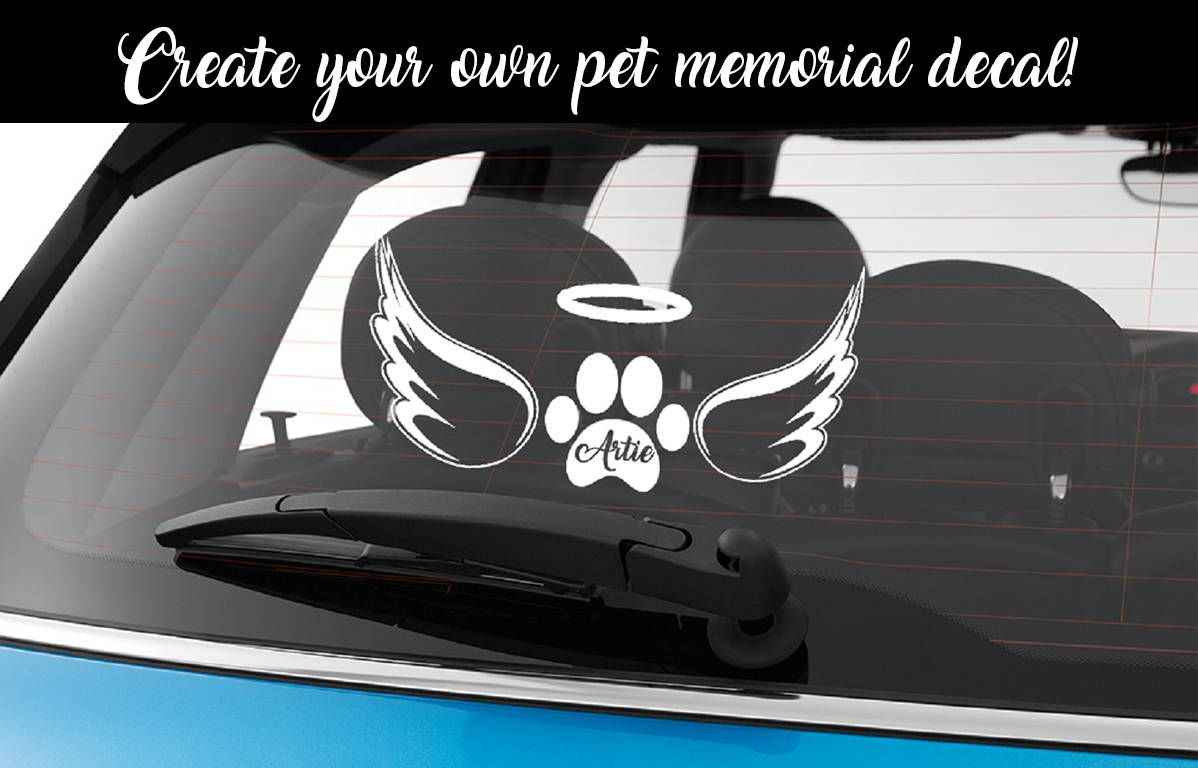 Custom pet memorial decal custom car stickers pet decals pet stickers custom memorial stickers