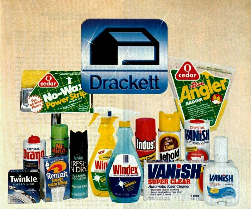 The Drackett Family Of Fine Household Products 1984 Vintage