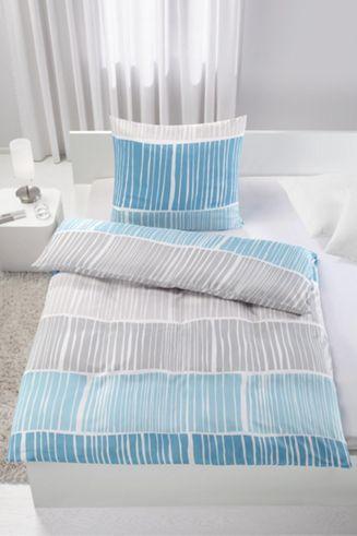 Bettwäsche aus 100 Polyester in der Farbe Türkis B L ca 135 - schlafzimmer la vida