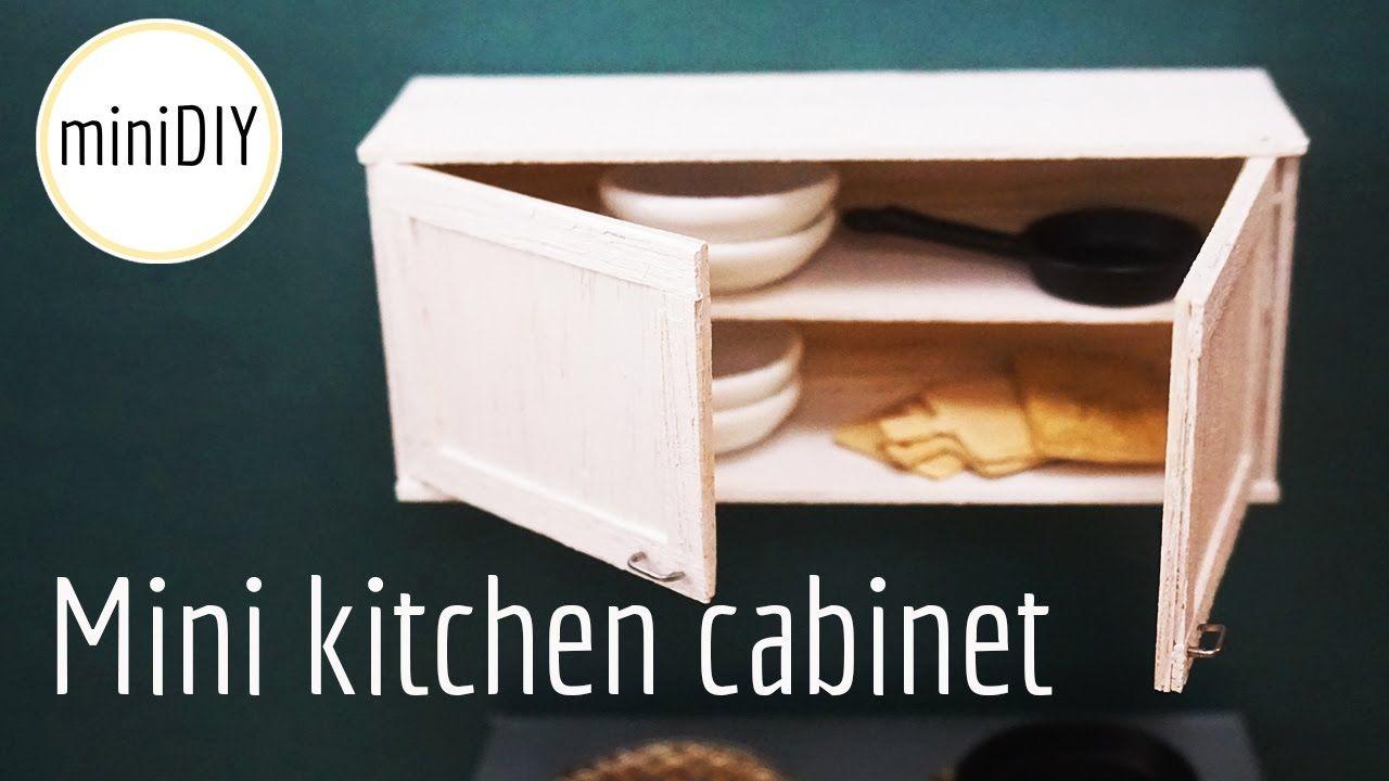 Miniature Kitchen Cabinet Diy Dollhouse Minidiy Miniature Kitchen Mini Kitchen Diy Kitchen Cabinets