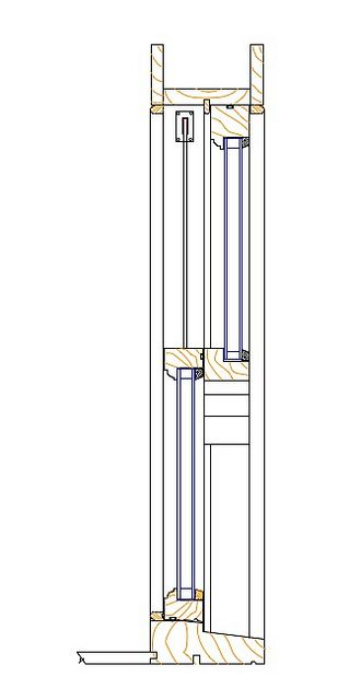Double Hung Window Section : Sash window section http smoothmovementsashesltd