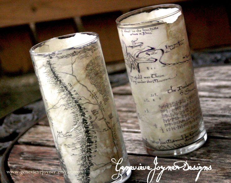 The Hobbit candle hoder Hobbit wedding hobbit receptionLord