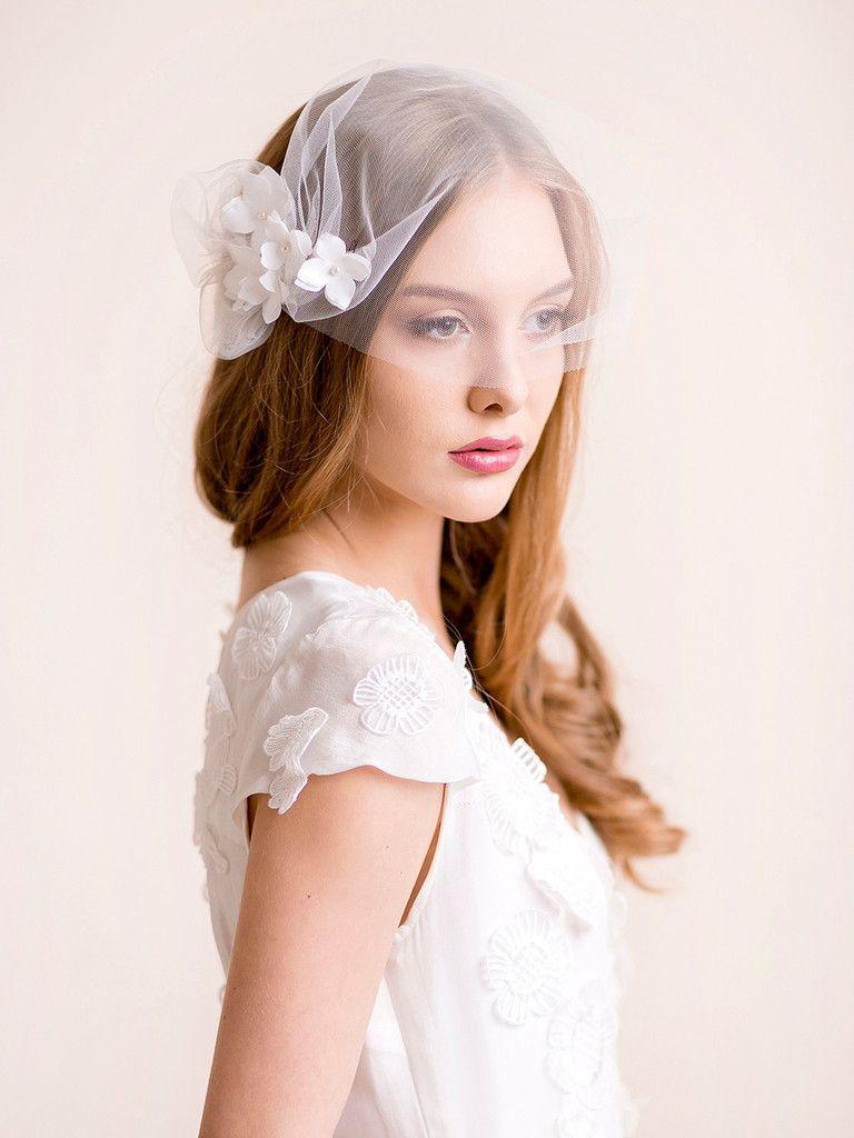 bandeau 9'' blusher veil tulle | hydrangea | florentes