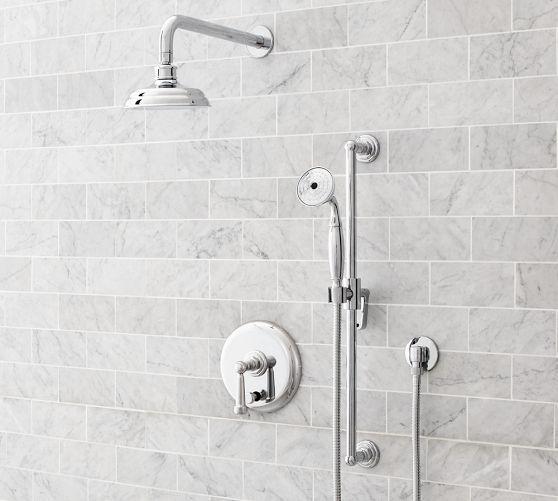 Reyes Shower Tub Sets Pottery Barn Thermostatic Polished