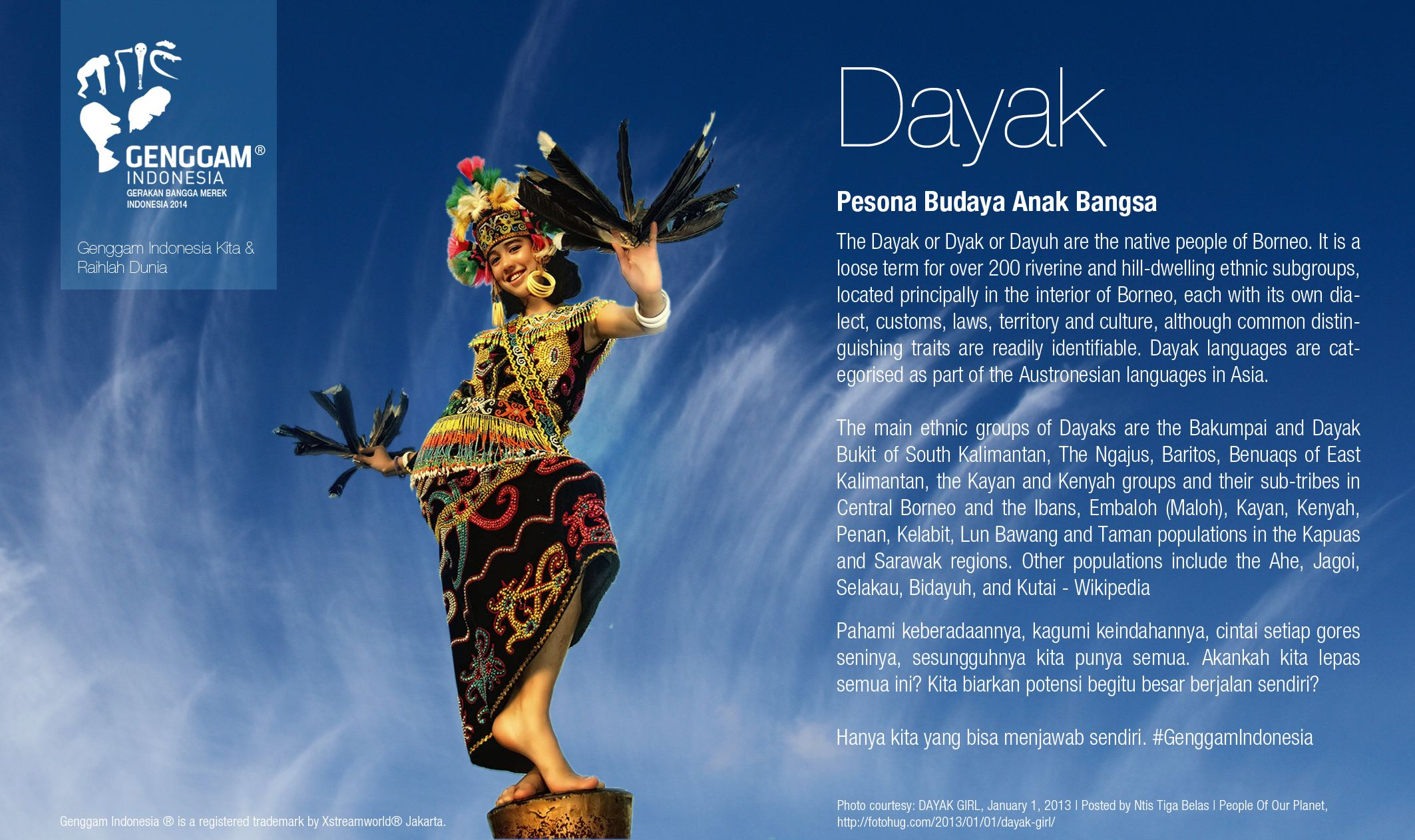 Cultural heritage Dayak Tribe from Kalimantan