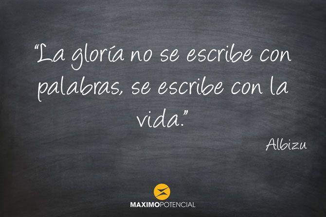 """""""La gloría no se escribe con palabras, se escribe con la vida."""" – Albizu"""