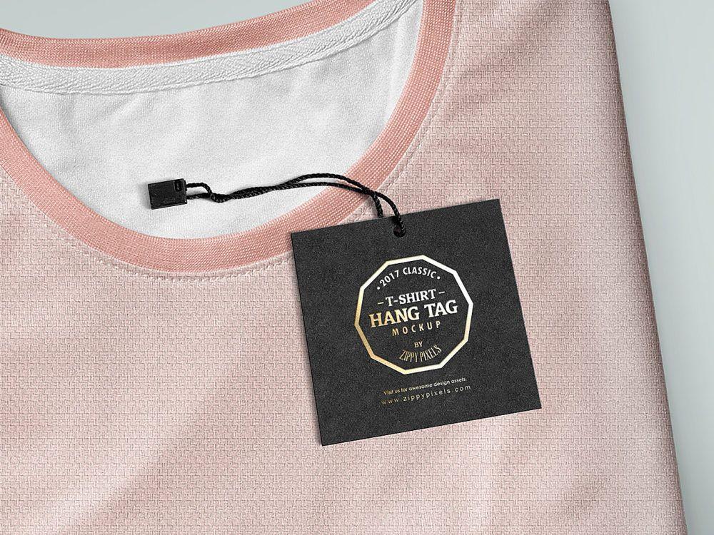 Download Label Tag Mockup Free Free Mockup Hang Tags Clothing Label Tag Psd Template Free