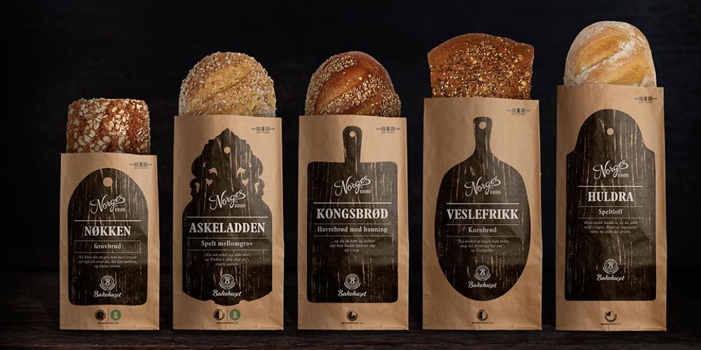 Norwegian Bread Bread Packaging Packaging Design Trends Food Packaging Design