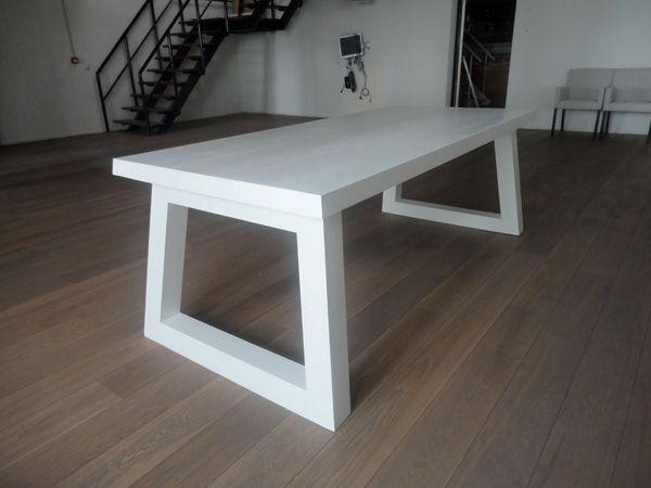 Angle tafel wit fairwood tafels en houten vloeren houten massieve tafels pinterest - Tafel eetkamer hout wit ...