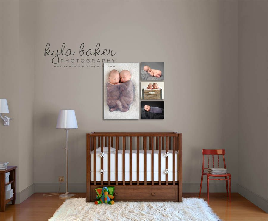 Twins Newborn Baby Boys Nursery Display Decorate