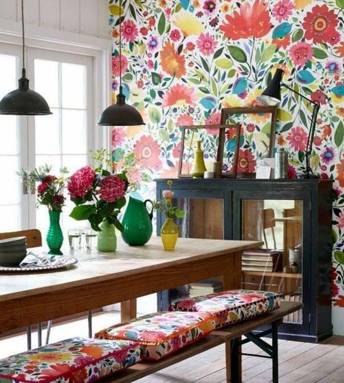 ▷ 1001 + idées originales de déco avec cadres vides Interiors - idee de deco salle a manger