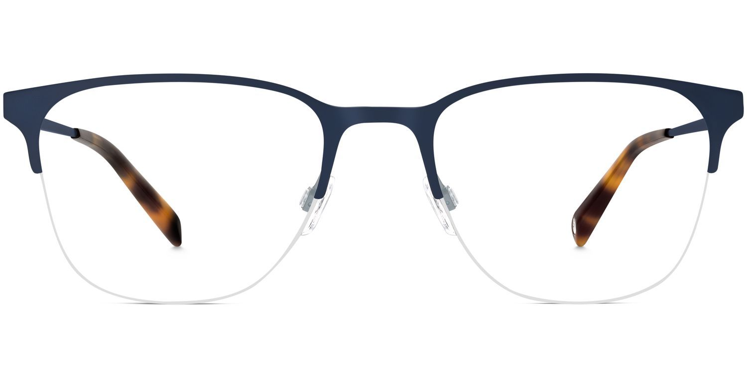 74d31855613f Front of Wallis in Brushed Navy Wide Face