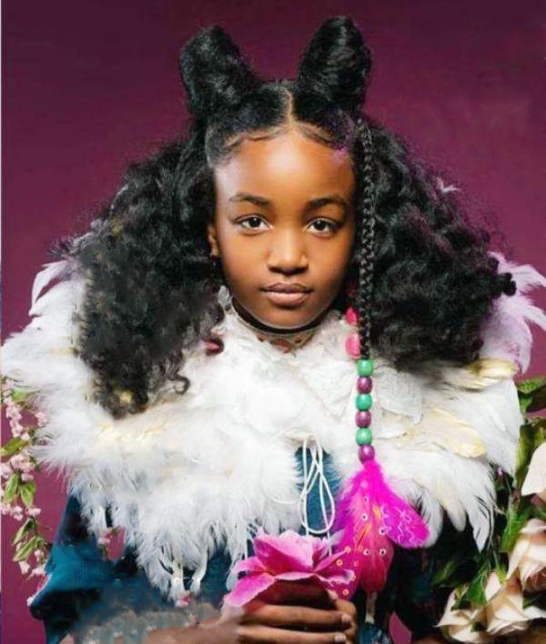 Braided Bun With Curvy Goddess Braids #Braids afro black girls 60 Inspiring Examples of Goddess Braids