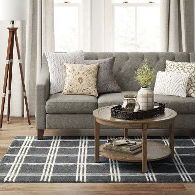 Best 5 X7 Plaid Tufted Area Rugs Gray Threshold Products 400 x 300