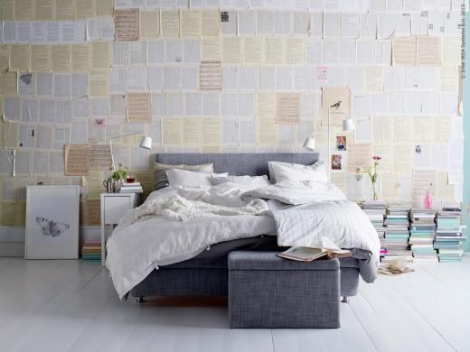 Ny säng på tapeten