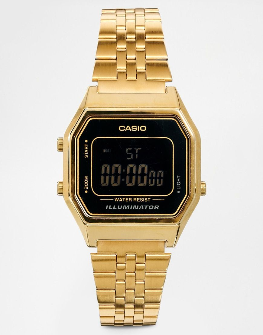 Casio LA680WEGA Mini Digital Black Face Watch