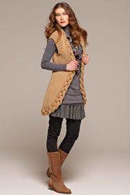 dámská ručně pletená vesta z příze Merino 85  b0890a3112