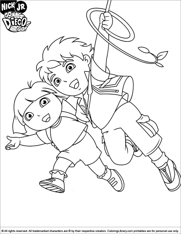 Go Diego Go coloring page | Owl | Pinterest