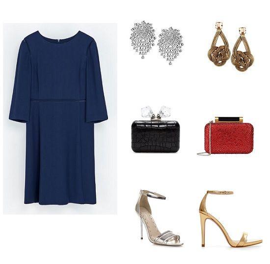 Pendientes para combinar con vestido azul marino