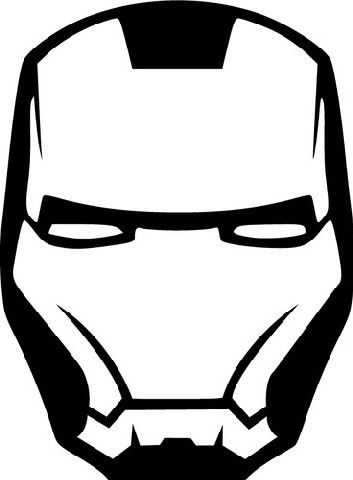 Iron man mask die cut vinyl sticker decal sticky addiction
