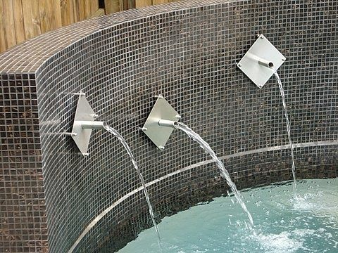 Decorative water spouts can be used with your own reservoir pond or pool water gently falls - Decorative water spouts ...