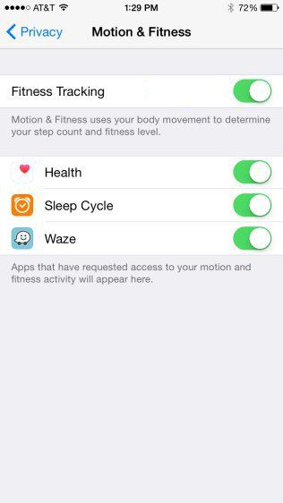 How To Enable Or Disable Motion And Fitness Tracking In Iphone Prime Inspiration Track Workout Motion Fitness Activities