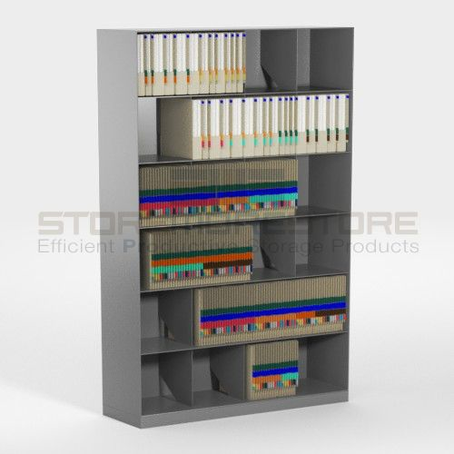 Slanted File Shelving Cabinets For End Tab Color Coded Filing