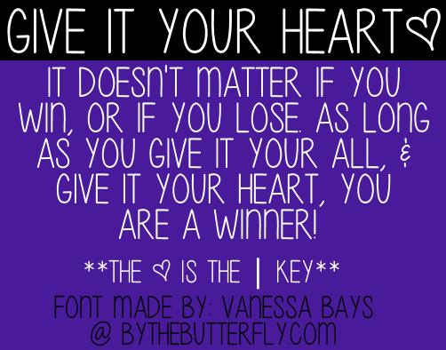 Give It Your Heart Font | dafont com | Digitals, Templates, and