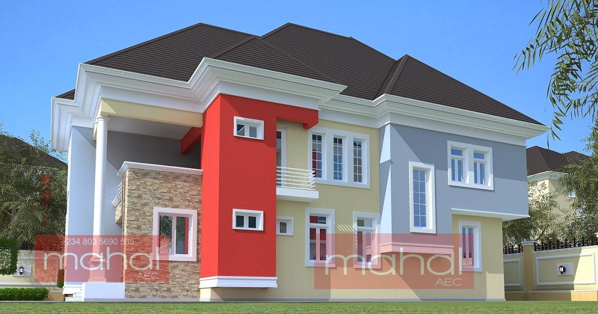 Contemporary Nigerian Residential Architecture 4 Bedroom Duplex Mercy T House Series Duplex Design Duplex House Design Bungalow Design