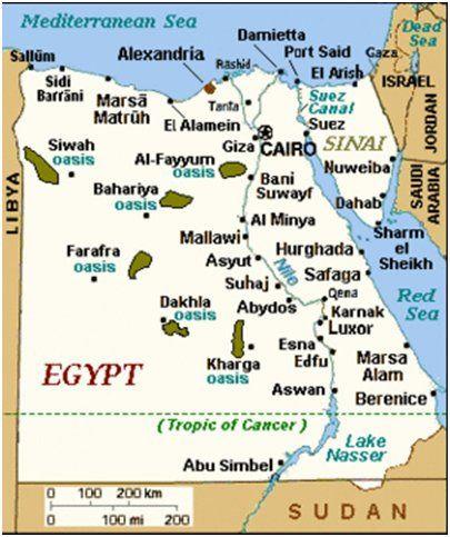Map Of Egypt Egyptin Kartta Egypt Map Egypt Travel Egypt