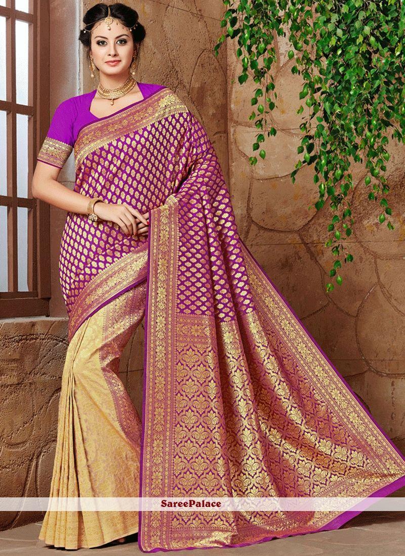 aa2761c3ff Prominent Banarasi Silk Weaving Work Designer Traditional Saree in ...