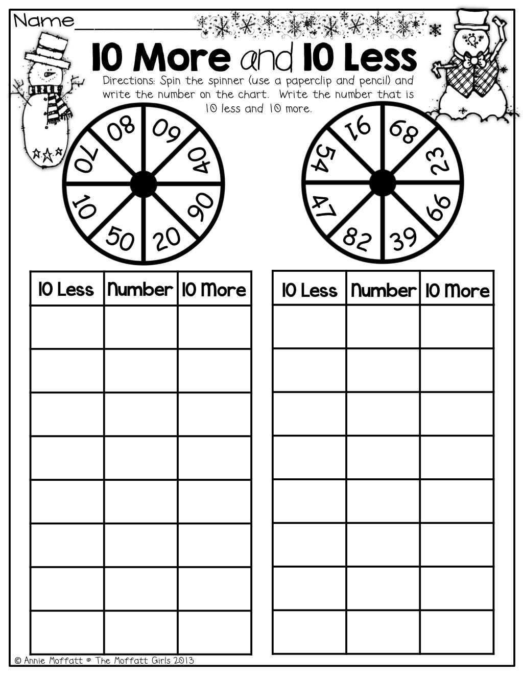 The Moffatt Girls Winter Math And Literacy Packet First Grade Math Lessons 1st Grade Math Math School [ 1325 x 1024 Pixel ]