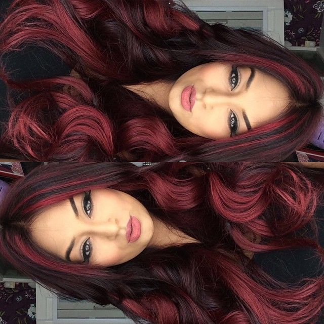 Best 25 White Hair Highlights Ideas On Pinterest: Best 25+ Black Hair Red Highlights Ideas On Pinterest