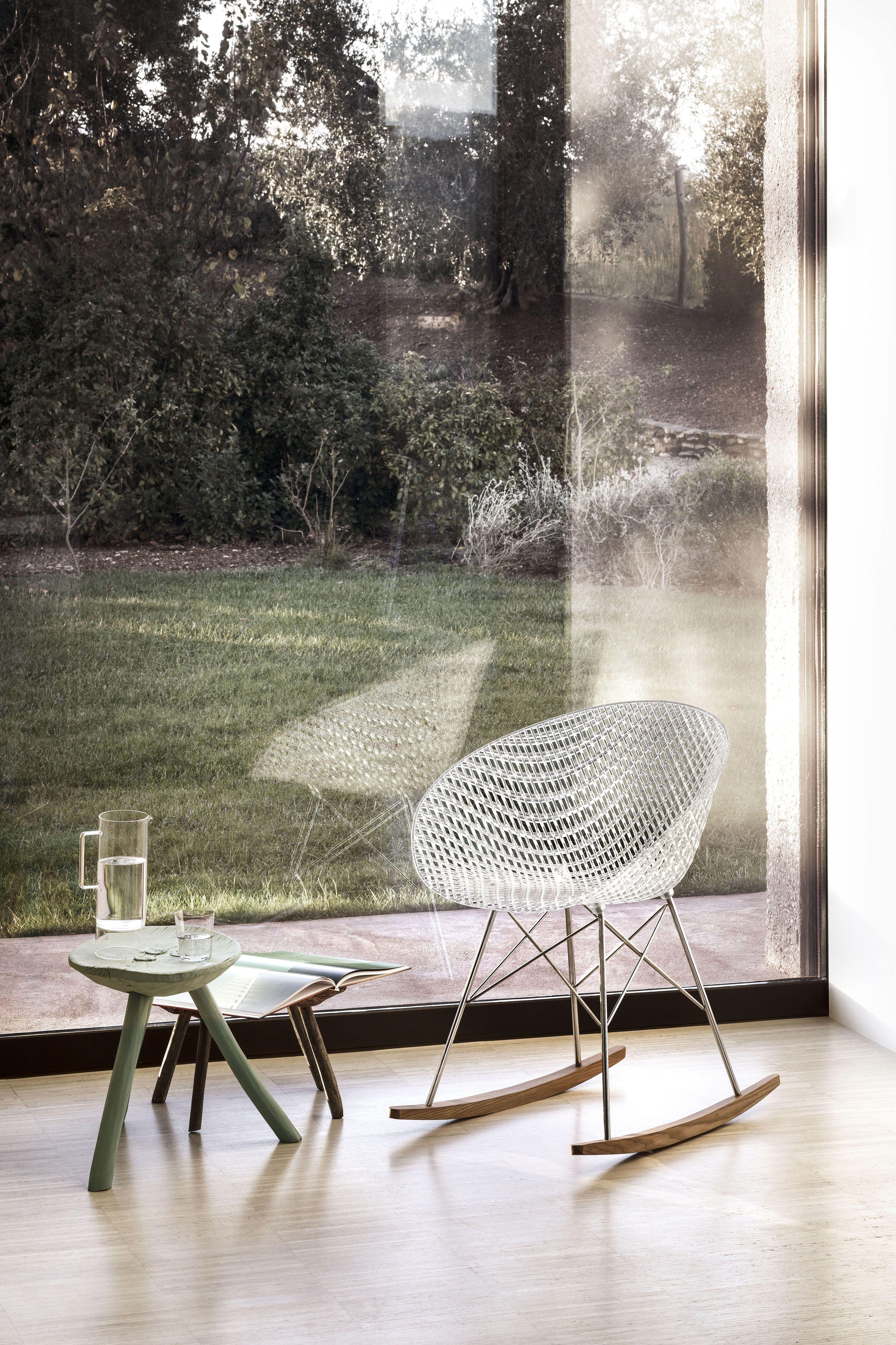 Rocking Chair Smatrik Kartell Transparent Made In Design Chaise A Bascule Mobilier Design Mobilier De Salon