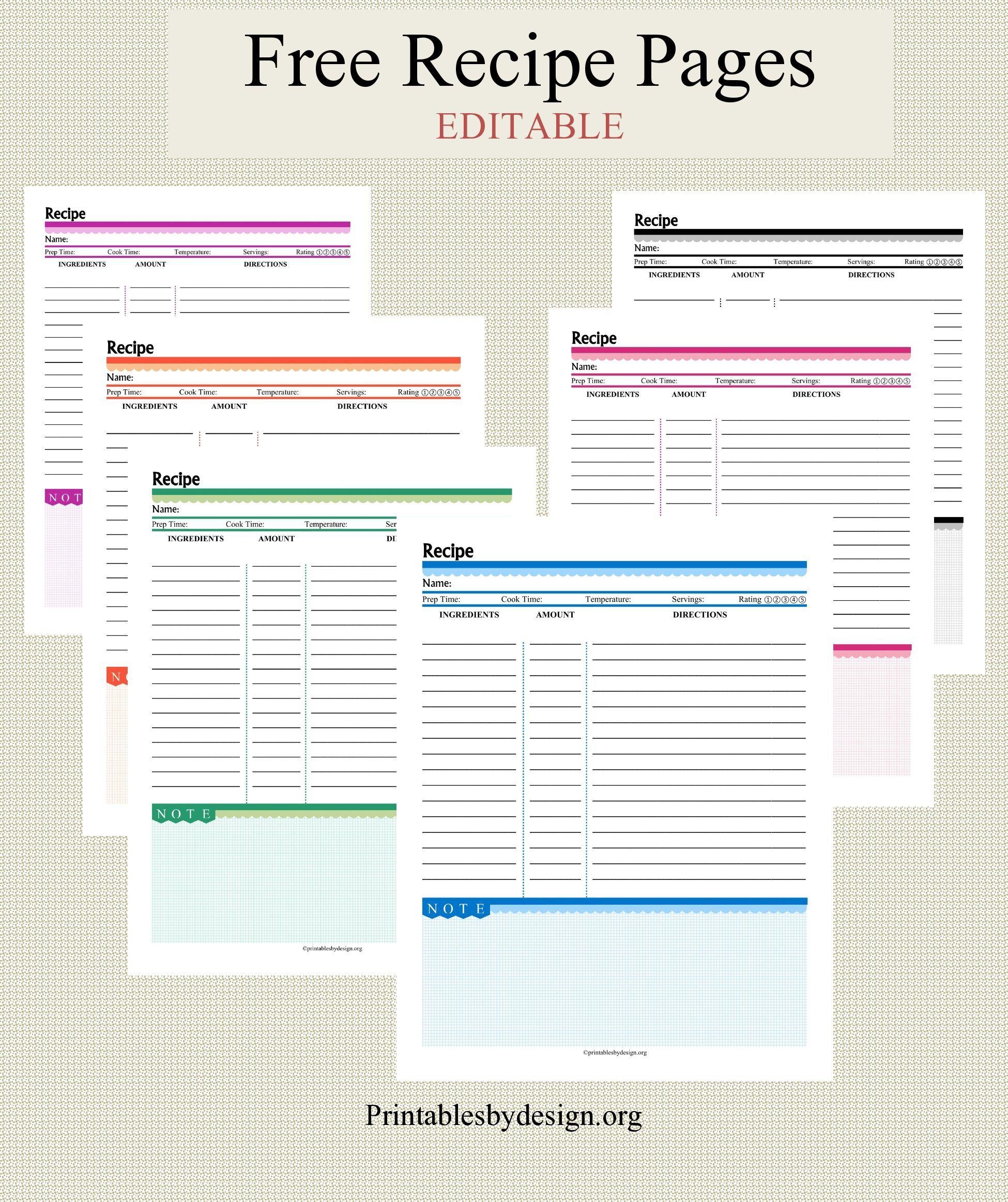 012 Free Recipe Book Template Ulyssesroom Recipe Template For Word Recipe Book Templates Cookbook Template