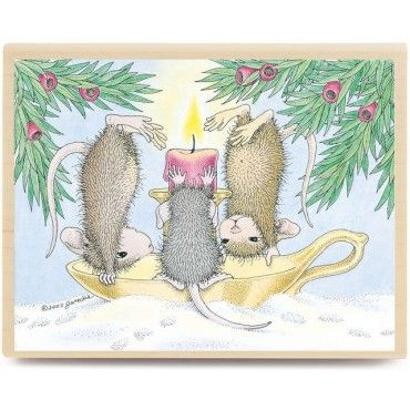 House Mouse-Wood Mounted Stamp-Cold Feet